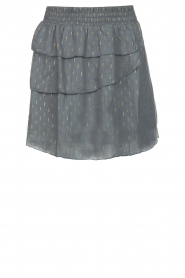 Les Favorites |  Lurex printed skirt Bonny | blue  | Picture 1