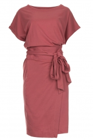 Les Favorites |  Cotton wrap dress Jolie | pink  | Picture 1