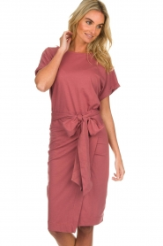 Les Favorites |  Cotton wrap dress Jolie | pink  | Picture 2