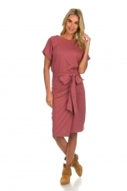 Les Favorites |  Cotton wrap dress Jolie | pink  | Picture 3