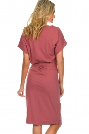 Les Favorites |  Cotton wrap dress Jolie | pink  | Picture 6