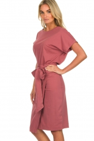 Les Favorites |  Cotton wrap dress Jolie | pink  | Picture 5