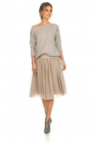 Les Favorites |  Tulle skirt Lilly | nude  | Picture 3