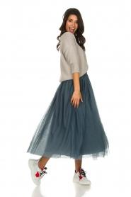 Les Favorites |  Tulle midi skirt Liz | blue  | Picture 4