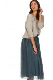 Les Favorites |  Tulle midi skirt Liz | blue  | Picture 5