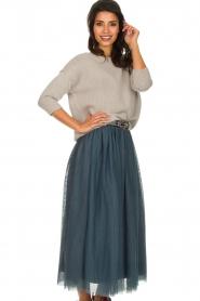 Les Favorites |  Tulle midi skirt Liz | blue  | Picture 6