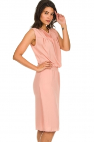 Les Favorites |  Dress with smocked waist Jill | pink  | Picture 4