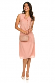 Les Favorites |  Dress with smocked waist Jill | pink  | Picture 3