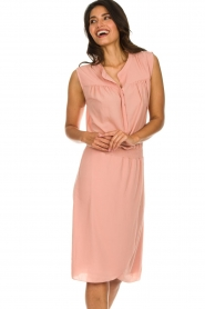 Les Favorites |  Dress with smocked waist Jill | pink  | Picture 2