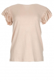 Les Favorites |  Top with ruffle sleeves Sandra | nude  | Picture 1