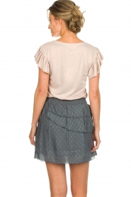 Les Favorites |  Top with ruffle sleeves Sandra | nude  | Picture 6