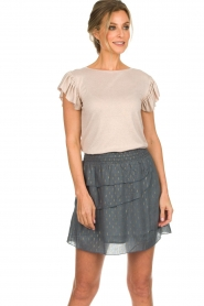 Les Favorites |  Top with ruffle sleeves Sandra | nude  | Picture 4