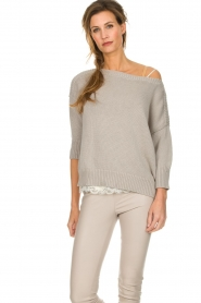 Les Favorites |  Cotton sweater Sabina | grey  | Picture 2