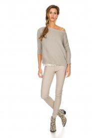 Les Favorites |  Cotton sweater Sabina | grey  | Picture 3