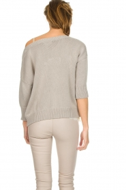 Les Favorites |  Cotton sweater Sabina | grey  | Picture 5