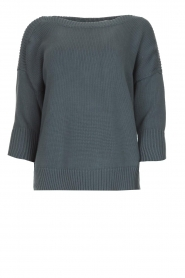 Les Favorites |  Cotton sweater Sabina | grey