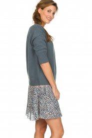 Les Favorites |  Cotton sweater Sabina | grey  | Picture 4