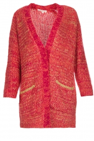 Les Favorites |  Knitted cardigan with glitter details Charlotte | pink  | Picture 1