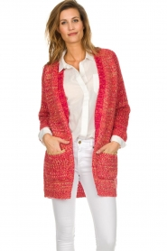 Les Favorites |  Knitted cardigan with glitter details Charlotte | pink  | Picture 4