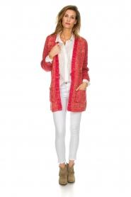Les Favorites | Gebreid vest met glitterdetails Charlotte | roze  | Afbeelding 3