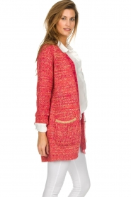 Les Favorites |  Knitted cardigan with glitter details Charlotte | pink  | Picture 5