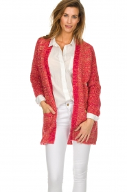 Les Favorites |  Knitted cardigan with glitter details Charlotte | pink  | Picture 2
