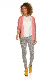Les Favorites |  Knitted cardigan with glitter details Robbie | pink  | Picture 3