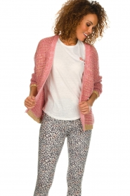 Les Favorites |  Knitted cardigan with glitter details Robbie | pink  | Picture 5