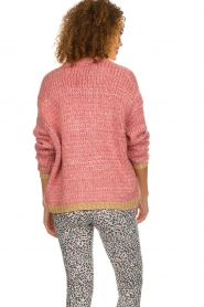 Les Favorites |  Knitted cardigan with glitter details Robbie | pink  | Picture 7