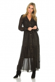 Dante 6 | Maxi-jurk Arlette | zwart  | Afbeelding 2