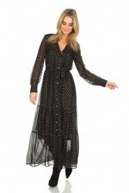 Dante 6 | Maxi-jurk Arlette | zwart  | Afbeelding 3