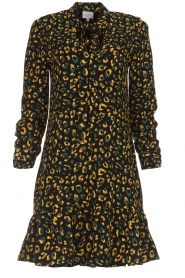 Dante 6 |  Dress with panther print and volant Layla | black  | Picture 1