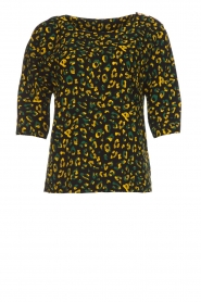 Dante 6 |  Top with panther print Leah | black  | Picture 1