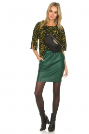 Dante 6 |  Top with panther print Leah | black  | Picture 3