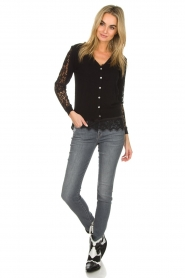 Dante 6 |  Top with lace Dalia | black  | Picture 3