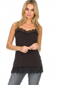 Dante 6 |  Top with lace Dalia | black  | Picture 2