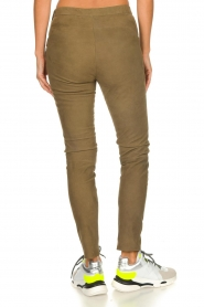 Dante 6 |  Leather leggings with snake pattern Campbell | green  | Picture 6
