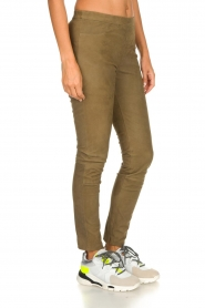 Dante 6 |  Leather leggings with snake pattern Campbell | green  | Picture 4