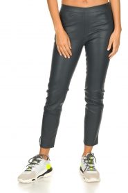 Dante 6 |  Leather leggings Ansh | blue  | Picture 2