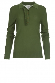Light polo sweater Mae | green