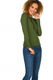 Dante 6 |  Polo sweater with ruffles Mae | green  | Picture 4