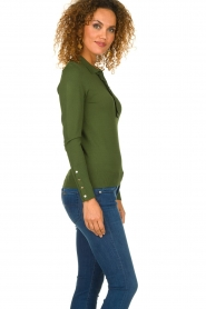 Dante 6 |  Polo sweater with ruffles Mae | green  | Picture 5
