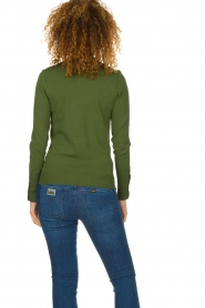 Dante 6 |  Polo sweater with ruffles Mae | green  | Picture 6