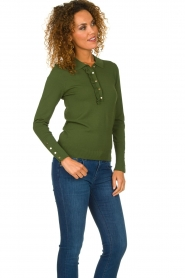 Dante 6 |  Polo sweater with ruffles Mae | green  | Picture 3