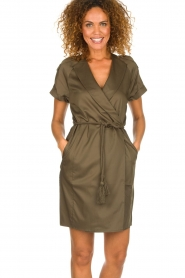 Dante 6 |  Wrap dress Vance | green  | Picture 2