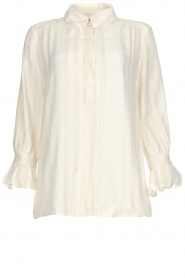 Dante 6 |  Top with lurex stripes Willow | white  | Picture 1