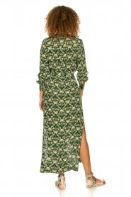 Dante 6 |  Printed maxi dress Loras | green  | Picture 5