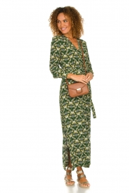 Dante 6 |  Printed maxi dress Loras | green  | Picture 3