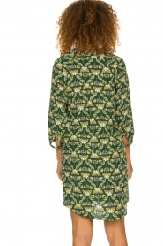 Dante 6 |  Printed dress Kravitz | green  | Picture 5
