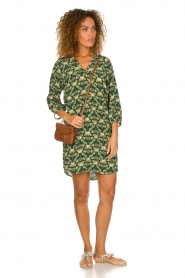 Dante 6 |  Printed dress Kravitz | green  | Picture 3